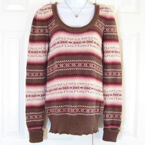 Aphorism   Angora Blend Fair Isle Sweater